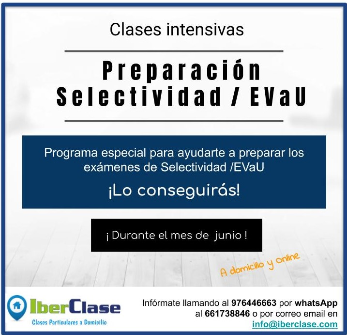 Clases Preparación Selectividad EVaU IberClase