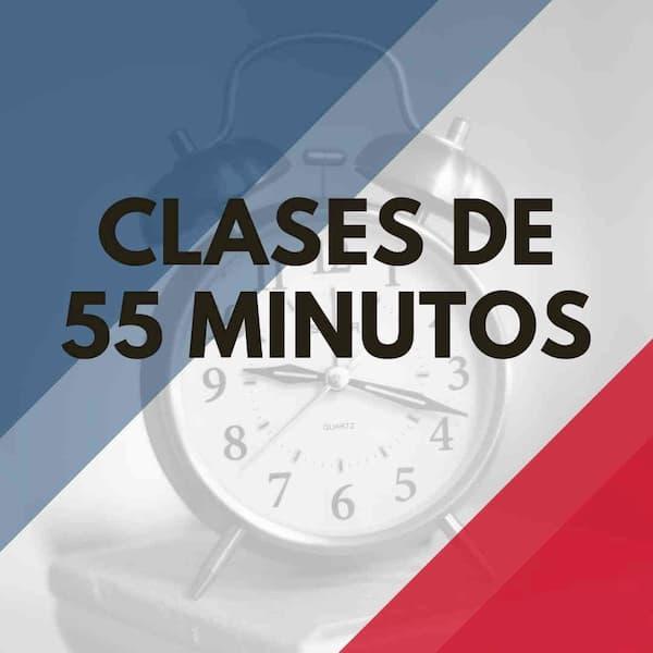 clases de apoyo escolar de 55 minutos